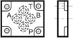 Útváltó helyett lezáró és rövidrezáró fedél CETOP 03, 05  váltólap CETOP 05-ről 03-ra