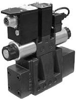 Elővezérelt útszelep arányos mágnessel CETOP P05, R05 07, 08, 10, 24VDC, ráépített elektronikával