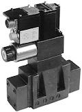 Kívülről vezérelhető elővezérelt háromutas nyomás-csökkentő szelep arányos mágnessel CETOP P05, R05, 07, 08, ráépített elektronikával