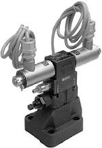 Elővezérelt nyomáshatároló szelepek robbanásbiztos elektromos tehermentesítéssel (alaplapos CETOP R06, R08, R10, NA 10, 20, 30)