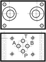 Egy- és kétútváltós; és nyomáshatárolós alaplapok CETOP 03