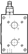 P2D és P4D alá szerelhető nyomáshatárolós alaplap
