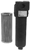 Vezetékbe szerelhető nyomóági szűrő; 5, 10, 25 µm