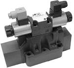 Elővezérelt tolattyús útváltó elektromos (P) vagy hidraulikus (C) működtetéssel CETOP 10