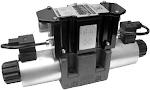 Közvetlen működtetésű útszelep arányos mágnessel CETOP 05, 24VDC, ráépített elektronikával