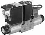 Alaplapos közvetlen vezérlésű nyomáscsökkentő, arányos mágnessel CETOP 03, 24VDC, ráépített elektronikával